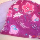 Fuschia Hearts/ Princess Rag Burp Cloth