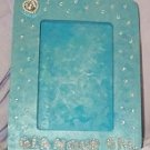Snazzy rhinestones on silver & turquoise Picture Frame for your GLAMOR GAL