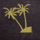 Striking Gold Palm Trees on Black Tote