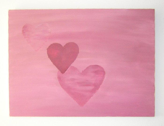 The lovely rich warm  tones of pinks and reds with HEARTS of Conceptual Love