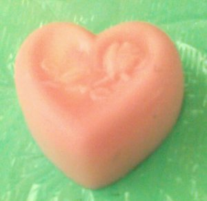 Precious little pink HEART guest soaps - 3 to a box
