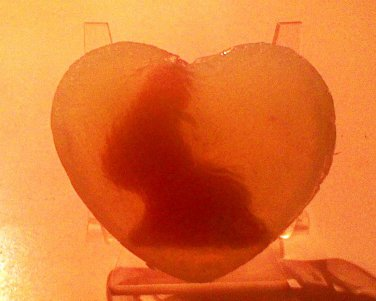 All natural HEART soap with an adorable bunny inside the bar!