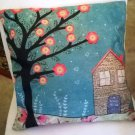 Happy Home brightly colored Decorator Pillow Cover