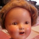 "Unmarked 16"" Compo'Doll Wigged  Very Sweet Needs a Nice Home"