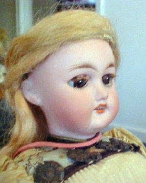 """S&H 1079 As/Is All original 12"""" Tall SLEEP brown eyes"""