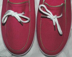 GRASSHOPPER Keds Canvas Slip-on PINK Shoes - NWOB - 11 M