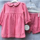 CARTERS Just One Year pin Dress Pantaloon Set - NWT - 9M