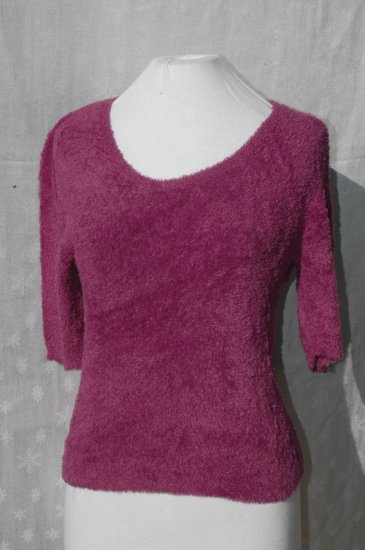 CACHE purple Scoop Neck SUPER SOFT Stretch Top - L