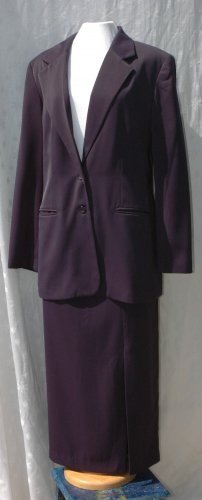 WESTBOUND 2 Pc. NAVY Skirt Suit - Size 14