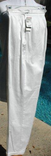 HUNT CLUB White Slacks with Lycra Stretch - Size 14 - NEW