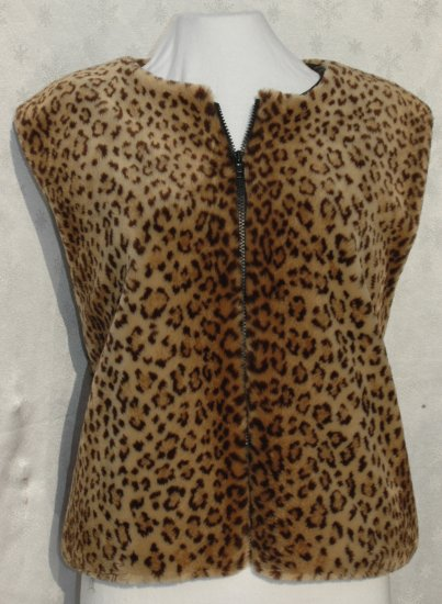 Donna Salyers FABULOUS-FURS For Animal Lovers - Leopard Vest - Size Large