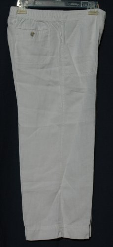 CHICO's White LINEN Capris Cropped Pants - Size 1 - Small