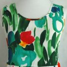 JAMS WORLD Vibrant Watercolor FLORAL Empire Dress PANIC Design - Large