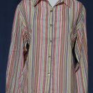 CHICO's Vibrant Cotton Vertical Stripe Blouse - Chicos Size 2 Medium Large