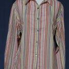 CHICO's Vibrant Cotton Vertical Stripe Blouse - Chicos Size 2 Medium Large