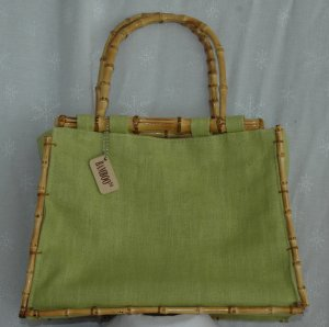 BAMBOO & Green Purse