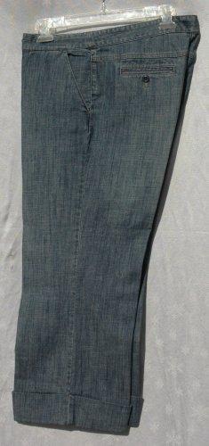 DANA BUCHMAN Denim Cuffed STRETCH Capris Cropped Pants - Size 10