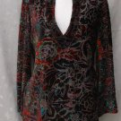 CHICO's Burnt Velvet - MULTI COLOR - Rayon & SILK TUNIC - Size 0 Small Medium