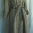FLAX by Jeanne Engelhart Vertical Stripe LINEN Dress - Size Petite