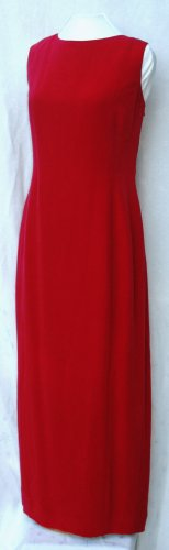 DANA BUCHMAN Long RED Formal SILK Dress - Size 16