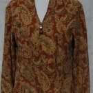 COLDWATER CREEK Zipper Front Paisley Jacket - Size Medium M
