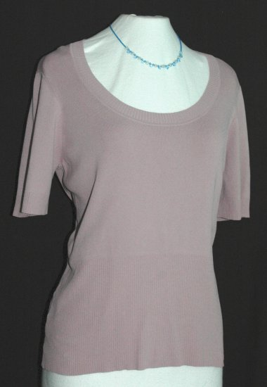 ANN TAYLOR LOFT Purple Scoop Neck Top - Size XL Extra Large