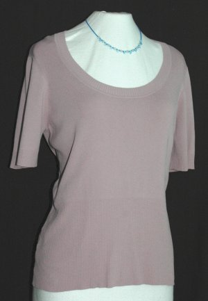ANN TAYLOR LOFT Purple Scoop Neck Top - Size XL Extra Large