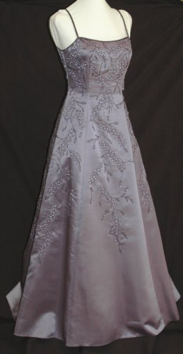 NIGHT SCENE ET-737 Lilac Beaded Prom Bridesmaid Pageant Gown - Size Medium M