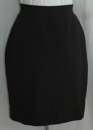 CACHE Black Ribbed Stretch Skirt - NEW - Size Large L