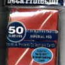 YUGIOH CARD PROTECTORS, PACK OF 50, IMPERIAL RED