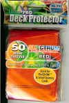 YUGIOH CARD PROTECTORS, PACK OF 50, SPECTRUM RED