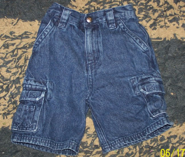 Nice NN boys 4T Arizona denim cargo shorts
