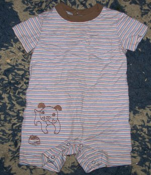 CUTE NN boys 3-6 mos Gymboree summer puppy romper