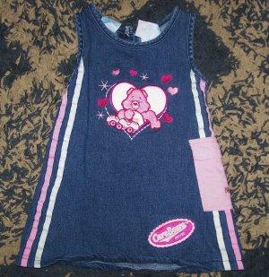 Adorable LN girls 3T Care Bears tenderheart denim dress
