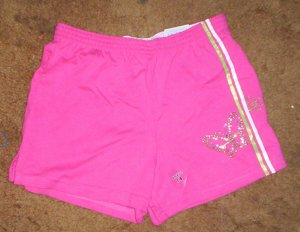 DARLING NWT girls sz 7/8 Arizona pink butterfly shorts
