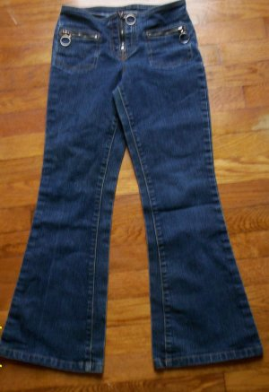 LN girls sz 10 Reg dark denim hipster flare jeans