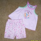 ADORABLE girls 18 mos 2pc disney princess outfit shorts