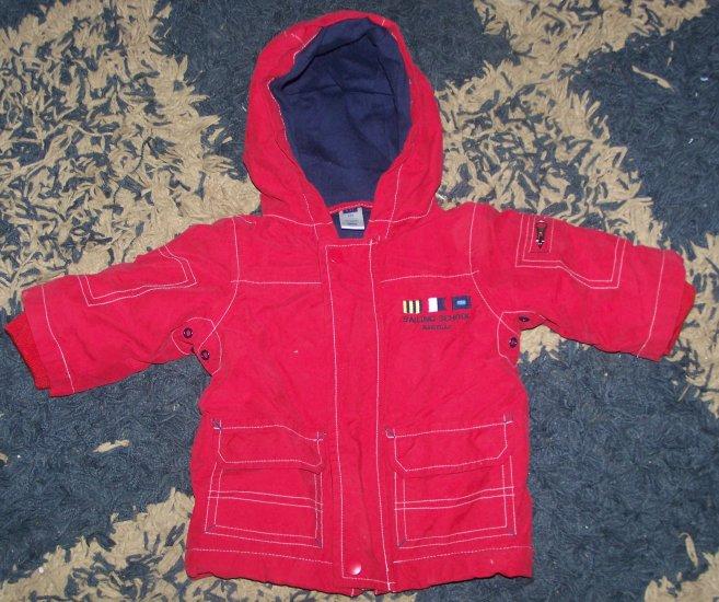 ADORABLE LN boys 3-6 mos Baby Gap winter coat w/hood