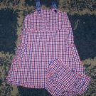 LN girls 3T checked Gap sundress w/ matching bloomers