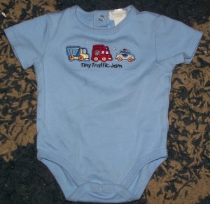 boys 3-6 mos first moments layette tiny traffic jam