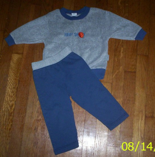 LN boys 2T Health tex jump shot outfit shirt/pants