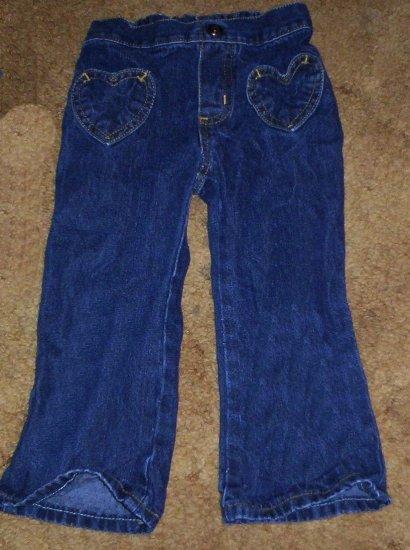 adorable NWOT girls 2T Arizona heart pocket flare jeans