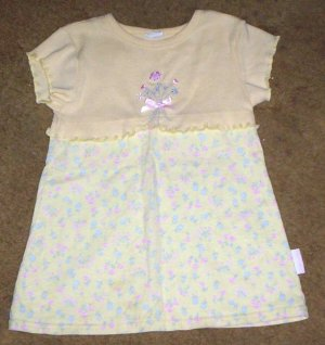 darling LN girls 2T healthtex soft yellow floral dress