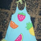 ADORABLE NN girls 24 mos halter dress with fruits