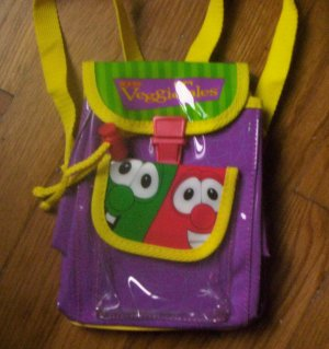 SALE AWESOME LN Childs VeggieTales mini backpack bob larry