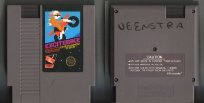 Excitebike NES Vintage Game Original Nintendo