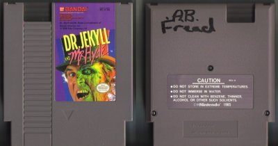 Dr .Jekyll & Mr. Hyde NES Vintage Game Original Nintendo