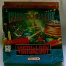 Virtual Boy Galactic Pinball NES Game with Box Book