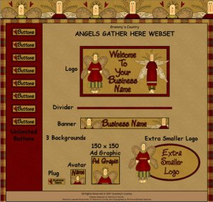 Angels Gather Here Webset - Website Graphics