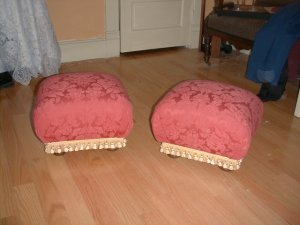 PAIR of Matching Victorian Footstools